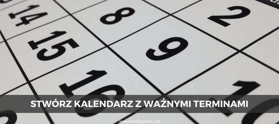 kalendarz do nauki