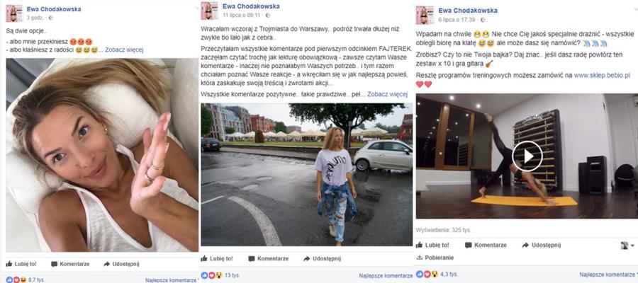 Ewa Chodakowska na Facebooku