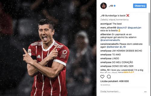 Robert lewandowski prowadzenie instagram